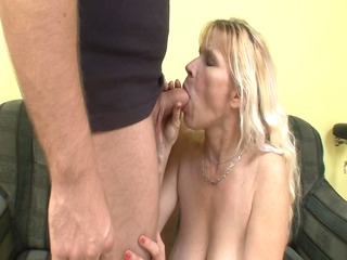 concupiscent older blond takes it is deep