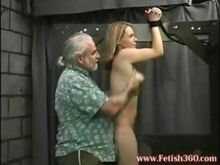 blond milf is bound up and receives her wazoo
