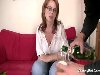 busty bitch is picked up and drilled