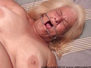 pov anal 57 year old granny wanda gets tied