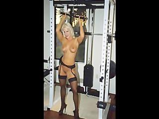 picture movie scene fbb blond muscle bodybuilder