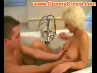 golden-haired older mom fucked in the bath
