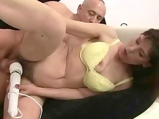 grandma receives her unshaved cookie drilled