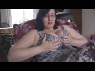 overweight older housewife turns hubby on with