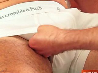 sport mature dude getting sucked by a fresh guy