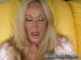 breasty horny mamma plays with her slit part8