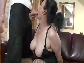 busty darksome brown granny receives wicked cunt