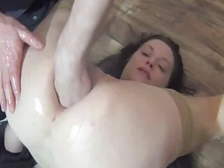 fisting the wifes gazoo for the st time