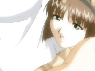 mommy hentai engulfing weenie and swallowing cum