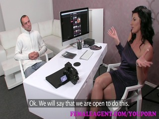 femaleagent hd fellow has issues during casting