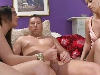 stylish mother i whores playing with small jock