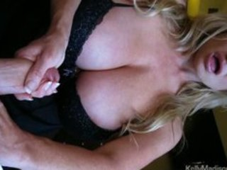 mega titted wife giving a hot tugjob