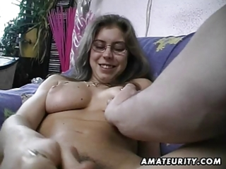 shaggy non-professional wife toys and rides a