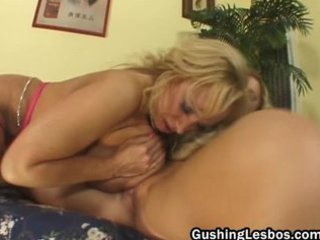 mature lesbian doxy acquires screwed with dildo