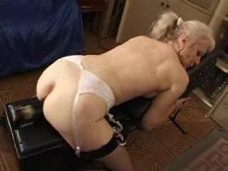 french shaved blonde granny pt82