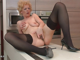 unsightly aged whore likes to masturbate in her