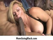 sexy milf rides large dark monster penis for her