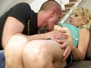 hawt grandma fucking with her youthful paramour