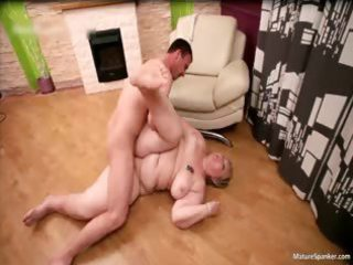 wicked obese blonde mother i acquires spanked