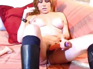 busty aged amateur wife toying booty and love