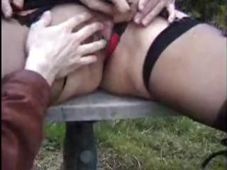 danielle is a older french doxy who copulates two