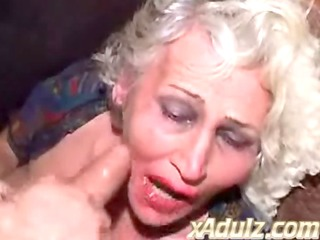 Drunk Granny Gets Facefucked and Gets a Dirty