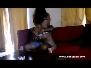 indian wife on top of her man pumping him off