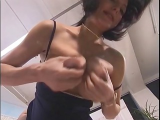 preggy girl playing with herself