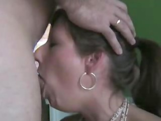 admirable wife deepthroats and swallows the full