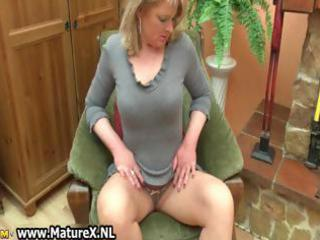 blonde mature housewife with large part7