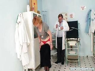 redhead granny obscene vagina stretching in gyn