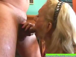 deepthroating granny