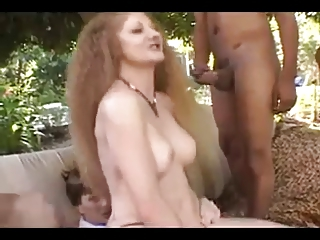 nympho d like to fuck redhead takes 4 dongs in