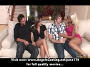 foursome swinger sex party with hot wives doing
