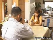 lascivious japanese milfs sucking and fucking