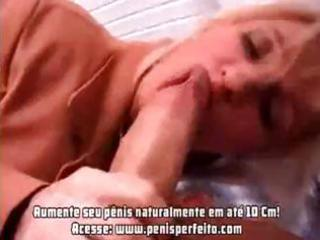 busty older blonde hottie munches on boners and