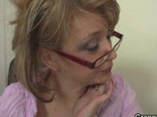 older office boss forces him fuck her hard