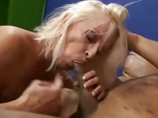 granny shows off her expert dong sucking skills