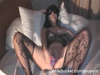 masked wife vs a large sextoy