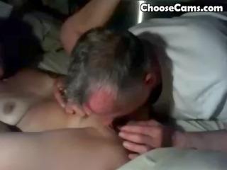 old man giving grandma great irrumation sex