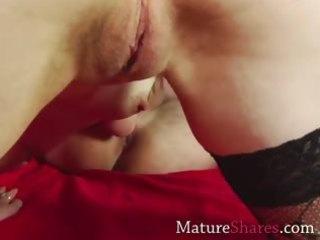 aged slut giving rimjob