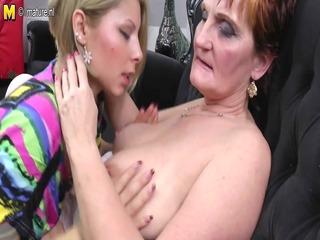 grandma teaching juvenile hotty a lesbian love