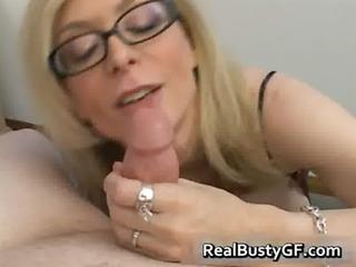blond mamma in glasses licking subrigid