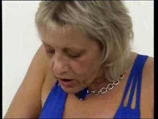 breasty blonde granny acquires her fingers