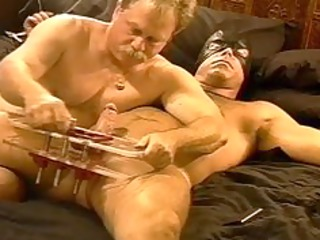 cbt squeezing my shaggy hunks balls in vise as