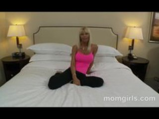 busty golden-haired d like to fuck in pink top