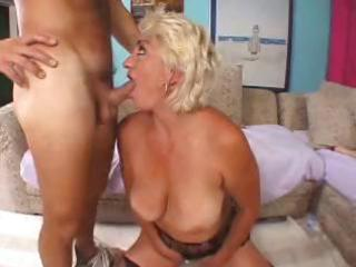 wicked blonde granny toys herself then blows