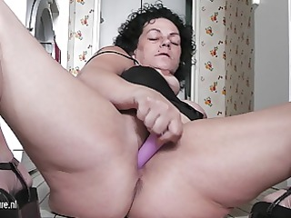 excited older whore granny playing all throughout
