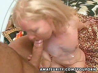 dilettante milf fucked with giant facial spunk