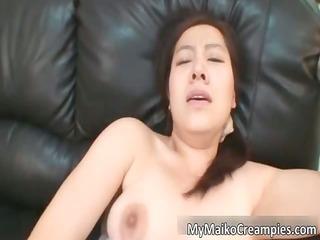 gracious oriental brunette hoe receives a sex